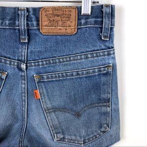 Levi's Vintage Orange Tab Cut Off Jean Shorts 28